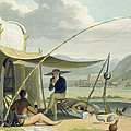 Halt Of A Boors Family, Plate 17 by Samuel Daniell