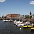 Hamburg Port With Fleet  by Christiane Schulze Art And Photography