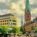 Hamburg Street Scene by Jeffrey Kolker
