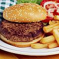Hamburger & French Fries by The Irish Image Collection