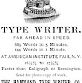 Hammond Typewriter, 1889 by Granger