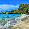 Hamoa Beach At Hana Maui by Dominic Piperata