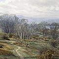 Hampstead Heath Looking Towards Harrow On The Hill by Edith Martineau