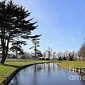Hampton Court Palace Moat England by Julia Gavin
