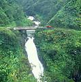 Hana Highway Waterfall Maui Hawaii by John Burk