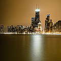 Hancock Building Reflection From North Ave Beach by Anthony Doudt
