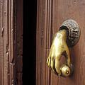 Hand Door Knocker San Miguel De Allende Mexico by John  Mitchell