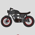 Hand Drawn Classic Motor Illustration by Glory Creative