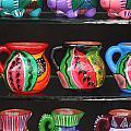 Hand Painted Ceramics Playa Del Carmen Mexico by Lee Vanderwalker