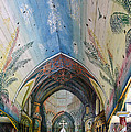 Hand Painted Church Interior by Linda Phelps