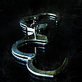 Handcuffs On Black by Jill Battaglia