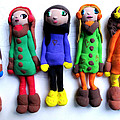 Handmade Clay Dolls By 9 Year Old Girl by Suzanne Cerny