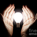 Hands Holding Light Bulb by Simon Bratt Photography LRPS