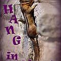 Hang In There Chipmunk by Karen Adams