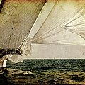 Hanged On Wind In A Mediterranean Vintage Tall Ship Race  by Pedro Cardona Llambias