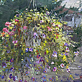 Hanging Flowers From Balcony by Ylli Haruni