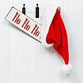 Hanging Santa Hat And Sign by Amanda Elwell