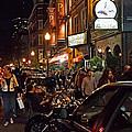 Hanover Street Nights - Boston by Joann Vitali