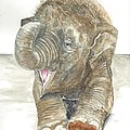 Happy Baby Elephant by Toni Willey
