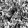 Happy Baseball Fans In The Bleachers At Yankee Stadium. by Underwood Archives
