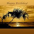 Happy Birthday Golden Sunrise by Michael Peychich