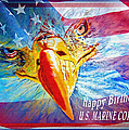 Happy Birthday Marine Corps by Donna Proctor
