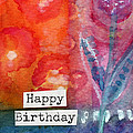 Happy Birthday- watercolor floral card by Linda Woods
