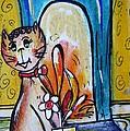 Happy Cat  by Mary Cahalan Lee- aka PIXI
