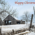 Happy Chrismas With Weathered Barn by Imagery by Charly