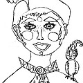 Happy Clown Girl by Thelma Harcum