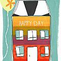 Happy Day Card by Linda Woods