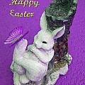 Happy Easter Card 4 by Aimee L Maher ALM GALLERY