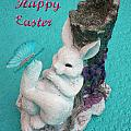 Happy Easter Card 6 by Aimee L Maher ALM GALLERY