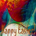 Happy Easter Greeting Card by Barbara Griffin