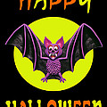 Happy Halloween Bat by Amy Vangsgard