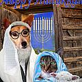 Happy Hanukkah -1 by Kathy Tarochione