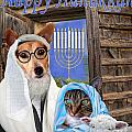 Happy Hanukkah -3 by Kathy Tarochione
