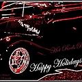 Happy Holidays Hot Rods Rule by Bobbee Rickard