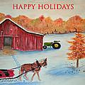 Happy Holidays Card by Ken Figurski