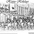 Happy Holidays Card by Randall Branham