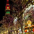 Happy Holidays Downtown Denver Co by Teri Virbickis
