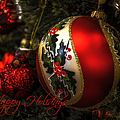 Happy Holidays Greeting Card by Julie Palencia