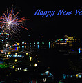 Happy New Year Greeting Card - Fireworks Display by Colin Utz