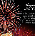 Happy New Year Psalm 123-3 by Michael Peychich