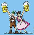 Happy Oktoberfest Couple Beer by Frank Ramspott