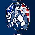 Happy Patriots Day God Bless America Retro by Aloysius Patrimonio