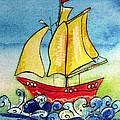 Happy Sailing Ship  by Mary Cahalan Lee- aka PIXI