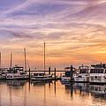 Harbor At Jekyll Island by Debra and Dave Vanderlaan