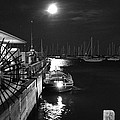 Harbor Boat At Night by Gregory Lafferty