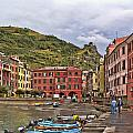 Harbor In Vernazza by Betty Eich